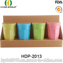 Taza de fibra de bambú biodegradable multicolora de 400 ml (HDP-2013)