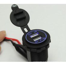 Cigarette Lighter Socket Splitter 12V Dual 2 Port USB Car Charger Power Adaptor
