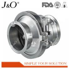 Válvula de retenção de aço inoxidável de fixação sanitária