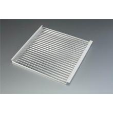 Hoja de revestimiento de aluminio corrugado de 600 * 600 mm