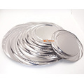 Indian style stainless steel silver round wedding charger plate