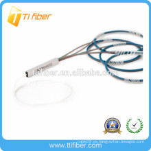 1X64 PLC de un solo modo G657A2 250um desnudo fibra óptica divisor