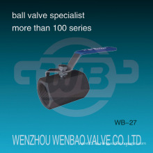 1PC de alta presión de acero de carbono forjado manual de la válvula de bola
