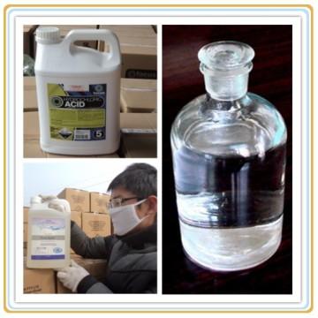 Ácido inorgánico clorídrico com no. Industrial 7647-01-0 de CAS da categoria