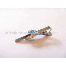 Iron Die Struck Transparent Enamel& Nickel Plating Tie Clip