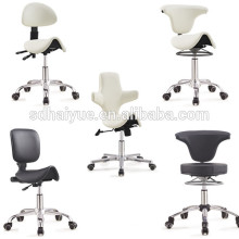 salão de beleza PU laranja em cadeiras de barbeiro com base de cinco estrelas
