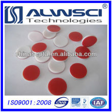 Septa en silicone PTFE 13 mm, pré-fente disponible