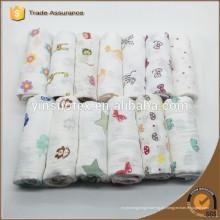 Eco-friendly Muslin Swaddle manta telas, manta de punto para el bebé