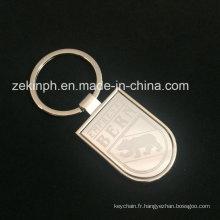 Keychain en métal gravé par laser avec le logo fait sur commande