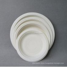 Biodegradable disposable wholesale plastic cornstarch plate