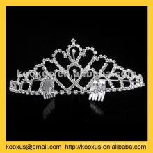 Rhinestone corona de Navidad y tiara