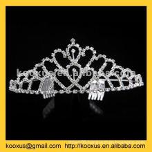 Rhinestone Christmas crown and tiara