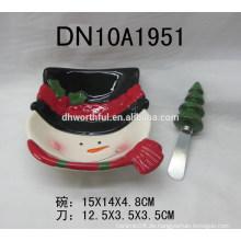 Weihnachten Geschirr Keramik Schüssel & Butter Messer