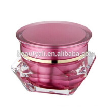 3ml 5ml 15ml 30ml 50ml Jarra de acrílico de crema cosmética de diamante Jarra de acrílico de venta al por mayor con la tapa de tornillo