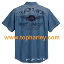 Harley Men's 110th Anniversary Denim Shirt Men's 96453-13VM