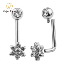 ASTM F136 Titanium Gift Wedding Trendy WOMEN'S Party Unisex Engagement Anniversary Belly Ring Piercing Jewelry