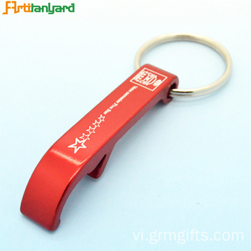 Nhôm Customized Chai Opener Keychain