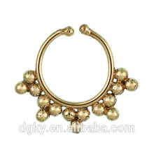Newest Brass Septum For Non Pierced Nose Ring Piercing For Septum