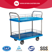 Plastic Shelves Hand Cart