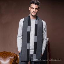 Écharpe tricotée acrylique en laine chaude hiver classique des hommes (YKY4611)