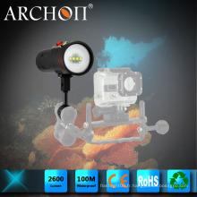 Lampe de poche LED Archon W40vr Diving Max 2600lumens Lampe de poche sous-marine