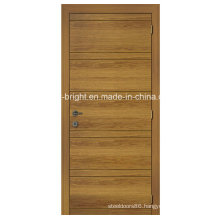 Simple Design Veneered Flush Door with Groove