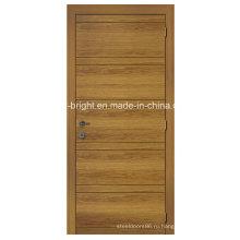 Простой дизайн шпонированные двери с пазом
