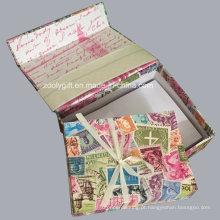 Personalize a caixa da lembrança do conjunto da nota da lembrança com notas & envelopes