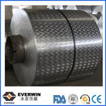 Bobina de alumínio em relevo de estuque revestido de cor