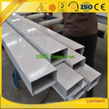 Tube carré en aluminium de Gp de Customzied avec des extrusions d'Alumnium