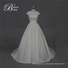 Ausgezeichnete Qualität Satin Brautkleid mit Spitze