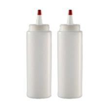 Botella plástica del apretón 240ml con la tapa de la boca del punto