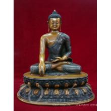 Fengshui intérieur en métal artisanat bronze népal fait à la main statue de Bouddha à vendre
