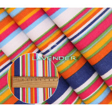 Various Colors Stripe Pattern 250GSM Hometex Canvas Fabric