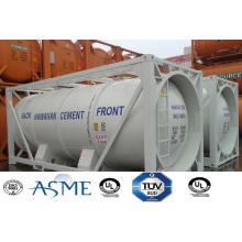 Acero de carbón de China 23000L 20FT 4 Bar presión contenedor cisterna para cemento a granel