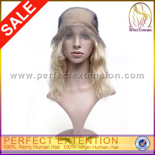 Golden Perfect Platinum Blonde Top Quality Brazilian Hair Wig