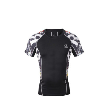 Secco camicia di compressione super eroe Fit Mens Custom Fitness