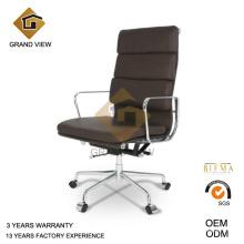 Chaise exécutive haute arrière en cuir marron foncé (GV-EA219)