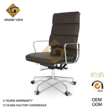 Cadeira executiva couro traseira alta marrom escuro (GV-EA219)