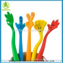 Canetas promocionais fofos dedo brinquedo caneta