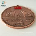 Approvisionnement Personnalisez les médailles de Taekwondo en métal de moulage d'alliage de logo avec le ruban