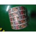 Etiqueta adesiva adesiva à prova d'água personalizada para alimentos enlatados