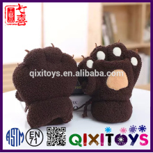 Plush Animal animal handling gloves soft paw scarf