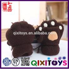 Обработка плюшевые животных перчатки мягкие лапки шарф