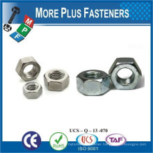Made in Taiwan M5-0.8 DIN 985 Grade A2 Stainless Steel Nylon Insert Lock Nut