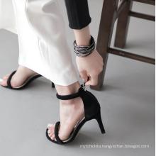 simple ladies peep-toe strap buckle high heel women sandals new design