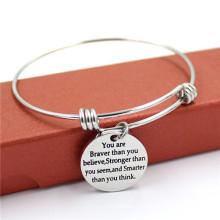 Aço 316stainless com liga bracelete encanto frendship moda pulseira
