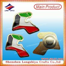 Флаг ОАЭ металла выбитый значок булавки с позолоченными для нестандартной конструкции