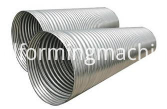 Steel Corrugated Culvert Pipe Machine