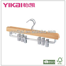 wooden clothes hanger for trousers and skirt hanger